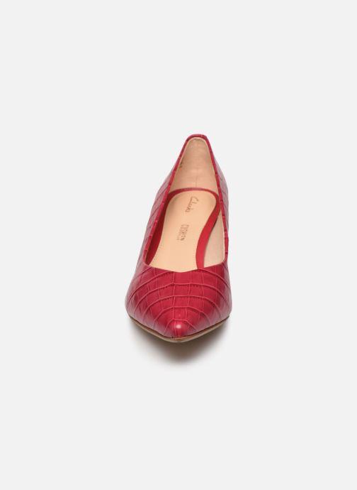 Escarpins Clarks Laina55 Court Rose vue portées chaussures