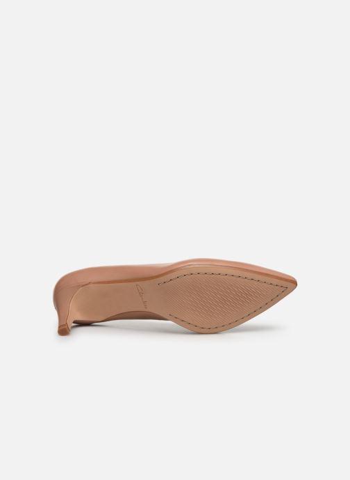 Zapatos de tacón Clarks Laina55 Court Rosa vista de arriba