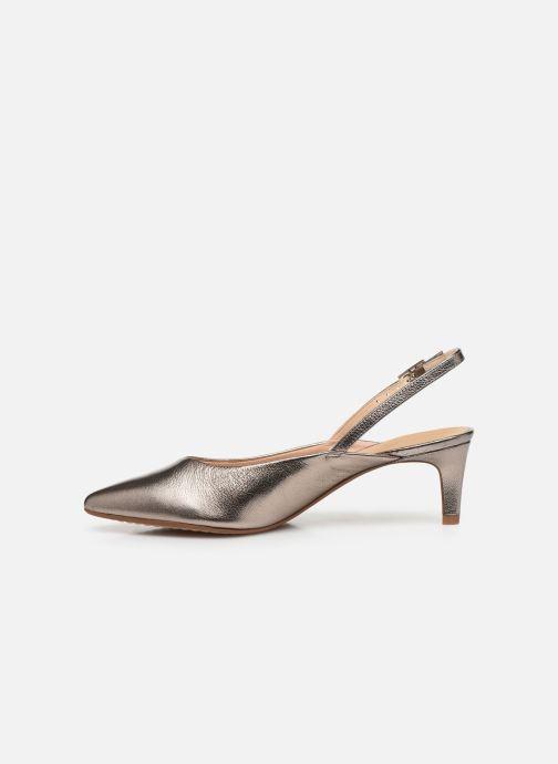 Zapatos de tacón Clarks Laina55 Sling Plateado vista de frente
