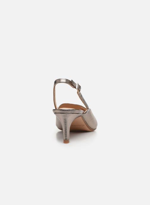 Zapatos de tacón Clarks Laina55 Sling Plateado vista lateral derecha