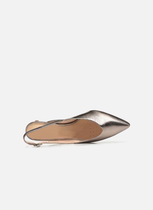 Zapatos de tacón Clarks Laina55 Sling Plateado vista lateral izquierda