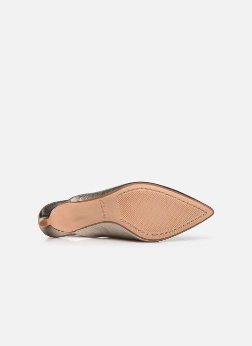 Zapatos de tacón Clarks Laina55 Sling Plateado vista de arriba