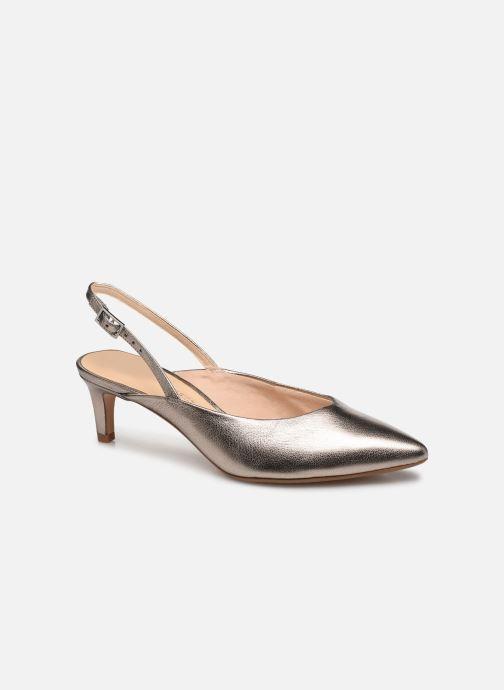 Zapatos de tacón Clarks Laina55 Sling Plateado vista de detalle / par