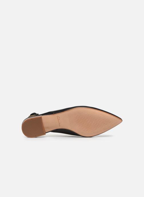 Zapatos de tacón Clarks Laina15 Sling Negro vista de arriba