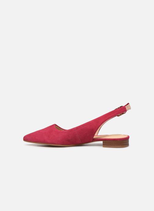 Zapatos de tacón Clarks Laina15 Sling Rosa vista de frente