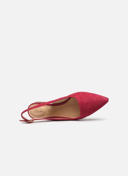 Zapatos de tacón Clarks Laina15 Sling Rosa vista lateral izquierda