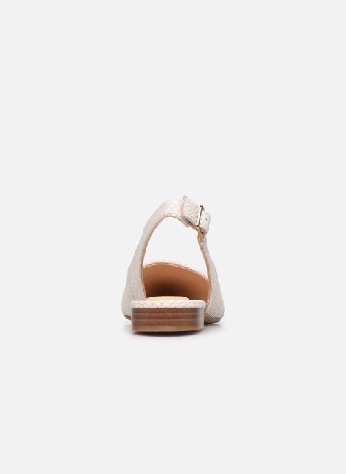 Zapatos de tacón Clarks Laina15 Sling Blanco vista lateral derecha