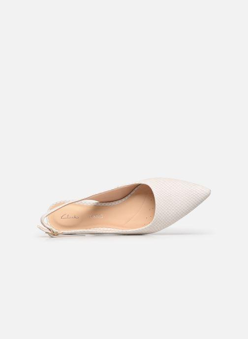Zapatos de tacón Clarks Laina15 Sling Blanco vista lateral izquierda