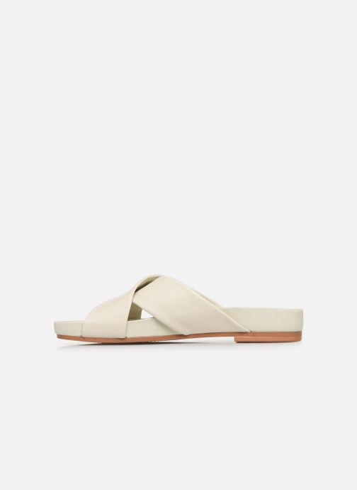 Zuecos Clarks Pure Cross Blanco vista de frente