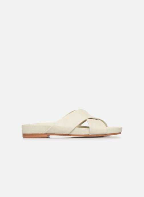 Zuecos Clarks Pure Cross Blanco vistra trasera