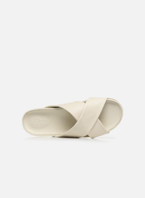 Zuecos Clarks Pure Cross Blanco vista lateral izquierda