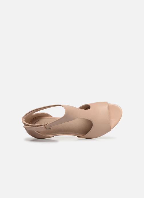 Sandales et nu-pieds Clarks Alice Flame Rose vue gauche