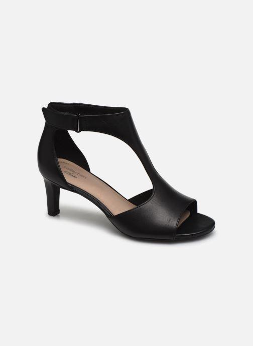 Sandales et nu-pieds Clarks Alice Flame Noir vue détail/paire