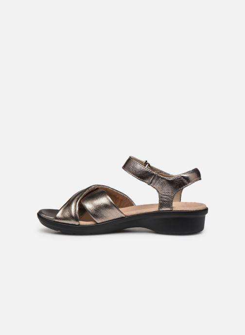 Sandales et nu-pieds Clarks Loomis Chloe Argent vue face