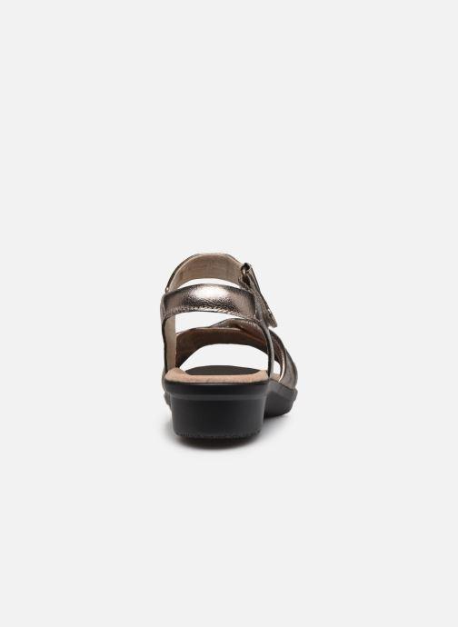 Sandales et nu-pieds Clarks Loomis Chloe Argent vue droite