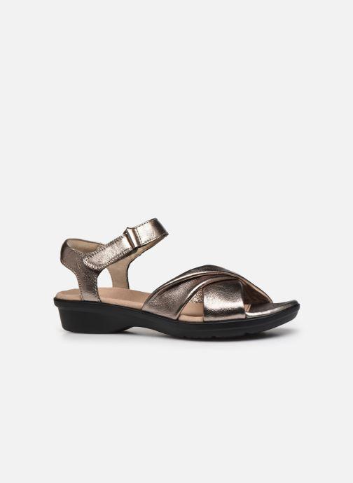 Sandales et nu-pieds Clarks Loomis Chloe Argent vue derrière