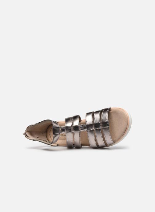 Sandales et nu-pieds Clarks Jillian Nina Argent vue gauche