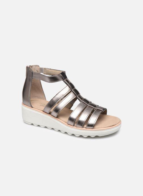 Sandales et nu-pieds Clarks Jillian Nina Argent vue détail/paire
