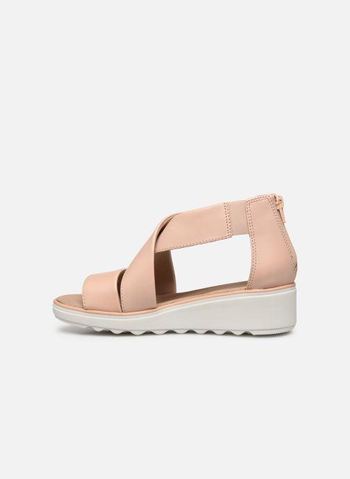 Sandales et nu-pieds Clarks Jillian Rise Rose vue face