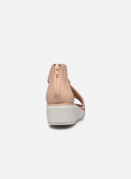 Sandales et nu-pieds Clarks Jillian Rise Rose vue droite