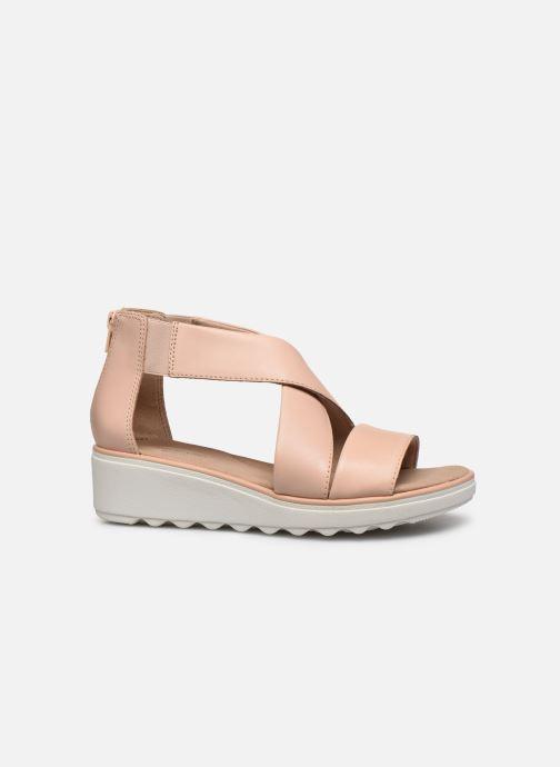 Sandales et nu-pieds Clarks Jillian Rise Rose vue derrière