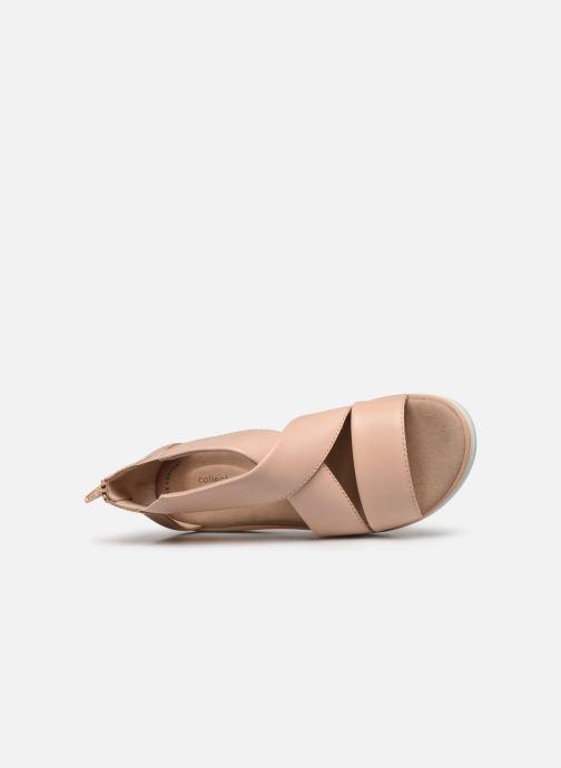 Sandales et nu-pieds Clarks Jillian Rise Rose vue gauche