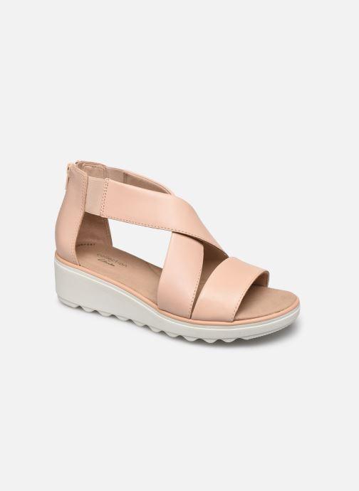 Sandales et nu-pieds Clarks Jillian Rise Rose vue détail/paire
