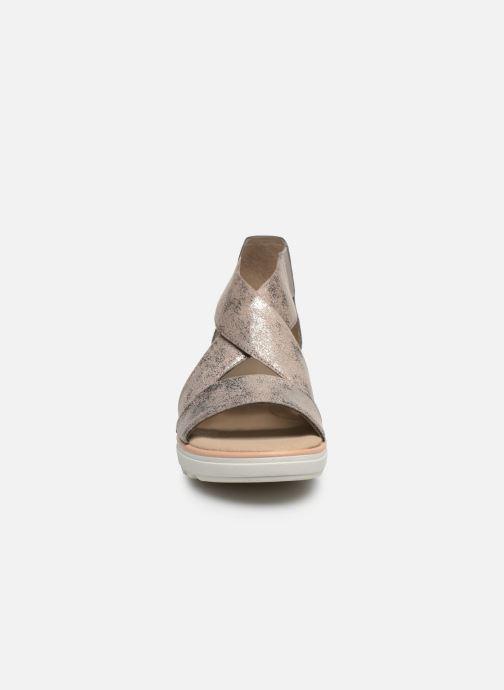 Sandalen Clarks Jillian Rise silber schuhe getragen