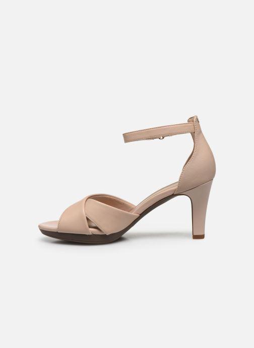 Sandales et nu-pieds Clarks Adriel Cove Rose vue face