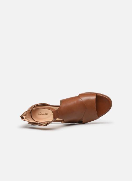 Sandales et nu-pieds Clarks Kaylin60 Glad Marron vue gauche