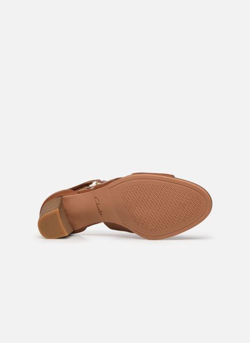 Sandales et nu-pieds Clarks Kaylin60 Glad Marron vue haut