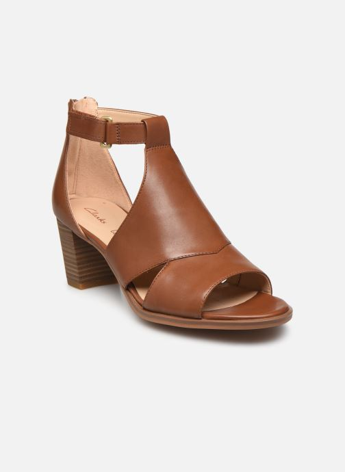 Sandales et nu-pieds Clarks Kaylin60 Glad Marron vue détail/paire
