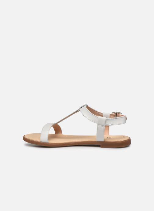 Sandales et nu-pieds Clarks Bay Rosa Blanc vue face