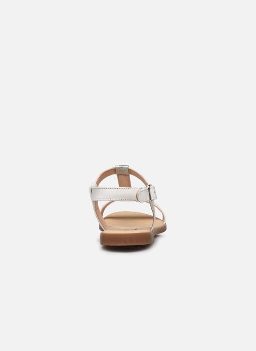 Sandales et nu-pieds Clarks Bay Rosa Blanc vue droite
