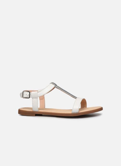 Sandales et nu-pieds Clarks Bay Rosa Blanc vue derrière
