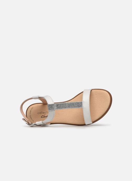 Sandales et nu-pieds Clarks Bay Rosa Blanc vue gauche