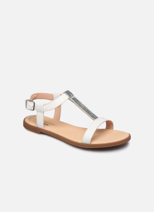 Sandales et nu-pieds Clarks Bay Rosa Blanc vue détail/paire