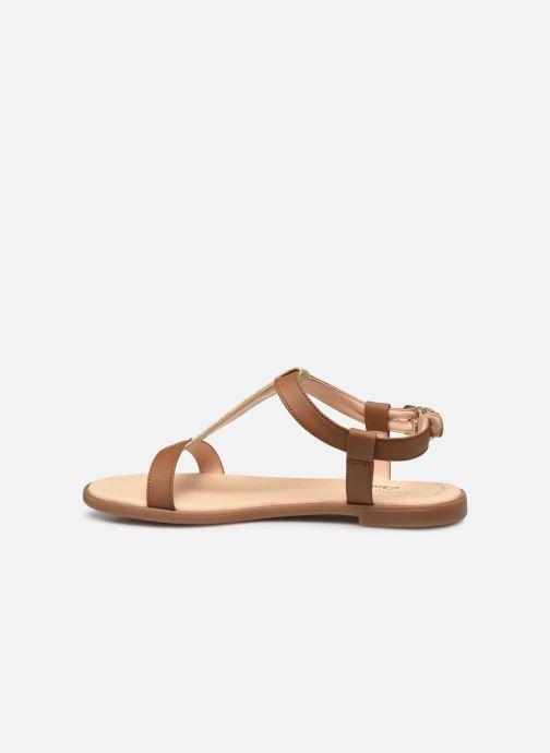 Sandales et nu-pieds Clarks Bay Rosa Marron vue face