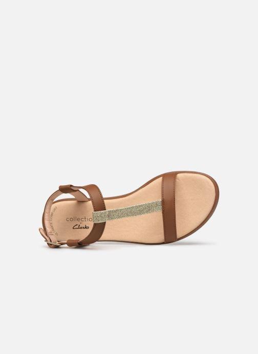 Sandales et nu-pieds Clarks Bay Rosa Marron vue gauche