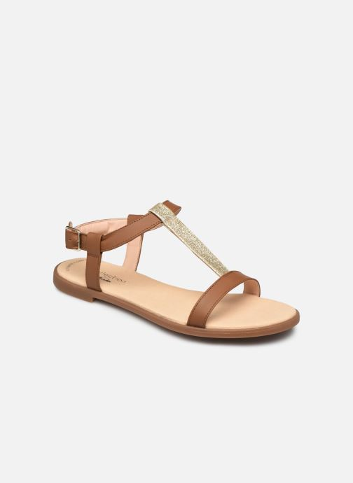 Sandales et nu-pieds Clarks Bay Rosa Marron vue détail/paire