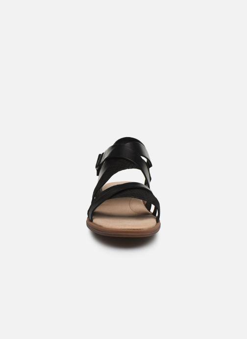 Sandales et nu-pieds Clarks Declan Mix Noir vue portées chaussures