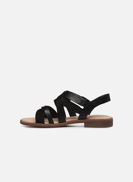 Sandales et nu-pieds Clarks Declan Mix Noir vue face