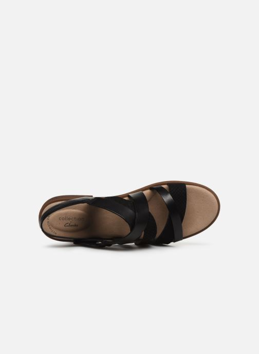 Sandales et nu-pieds Clarks Declan Mix Noir vue gauche