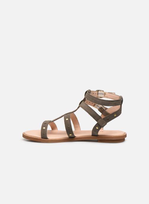 Sandales et nu-pieds Clarks Willow Glad Gris vue face