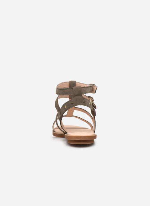 Sandales et nu-pieds Clarks Willow Glad Gris vue droite