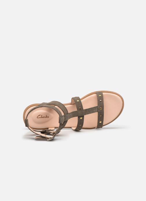 Sandales et nu-pieds Clarks Willow Glad Gris vue gauche