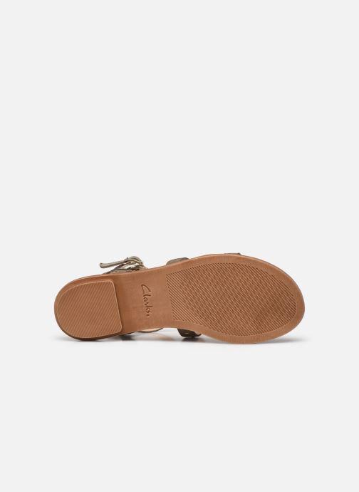 Sandales et nu-pieds Clarks Willow Glad Gris vue haut