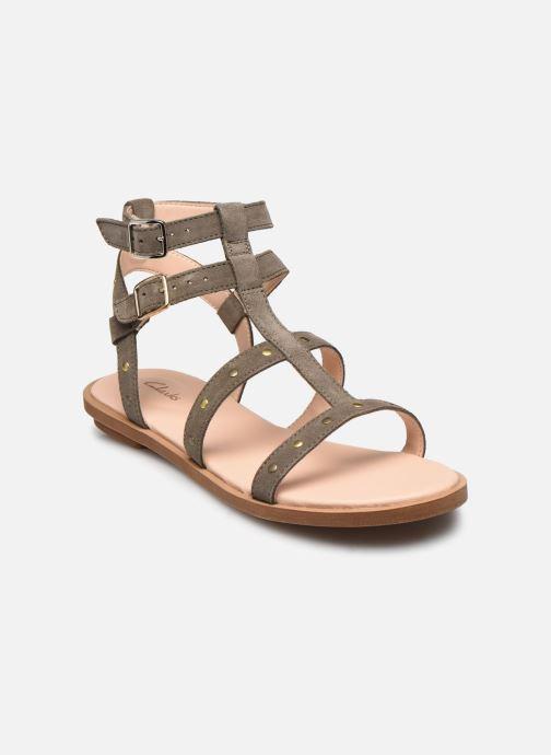 Sandales et nu-pieds Clarks Willow Glad Gris vue détail/paire