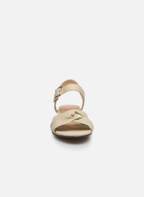 Sandalen Clarks Sense Strap weiß schuhe getragen