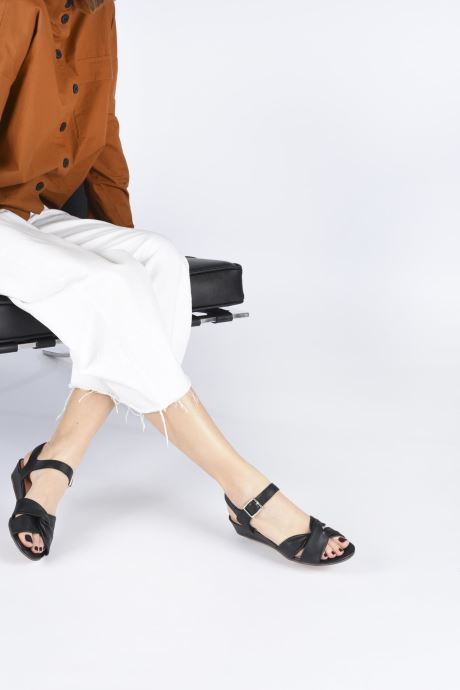 Sandals Clarks Sense Strap Black view from underneath / model view